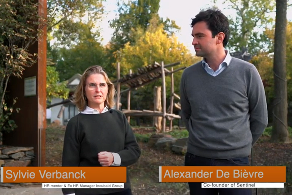 Sylvie Verbanck (mentor) and Alexander de Bièvre (Sentinel)